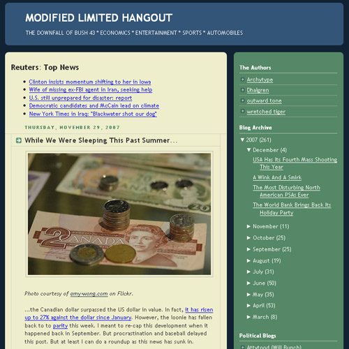 Modified Limited Hangout - While We Were Asleeping - Canadian 2 Dollar Bill